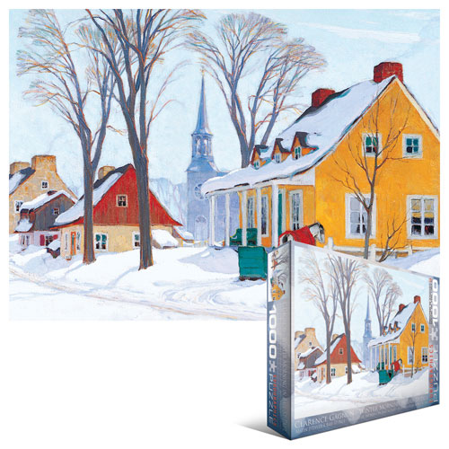 Winter Morning in Baie-St-Paul Canada Jigsaw Puzzle