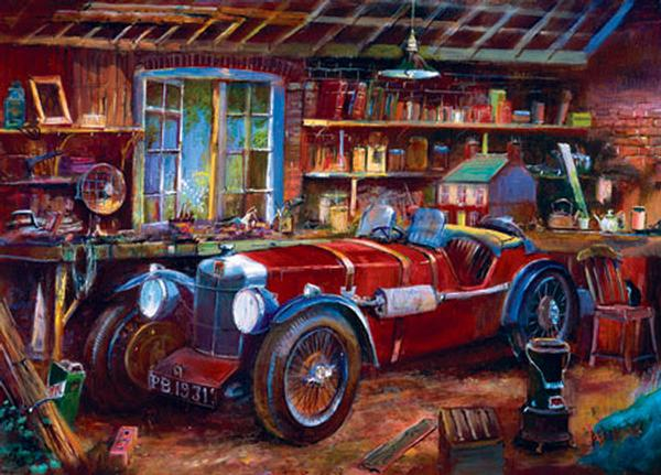 Work Shed Cars Jigsaw Puzzle