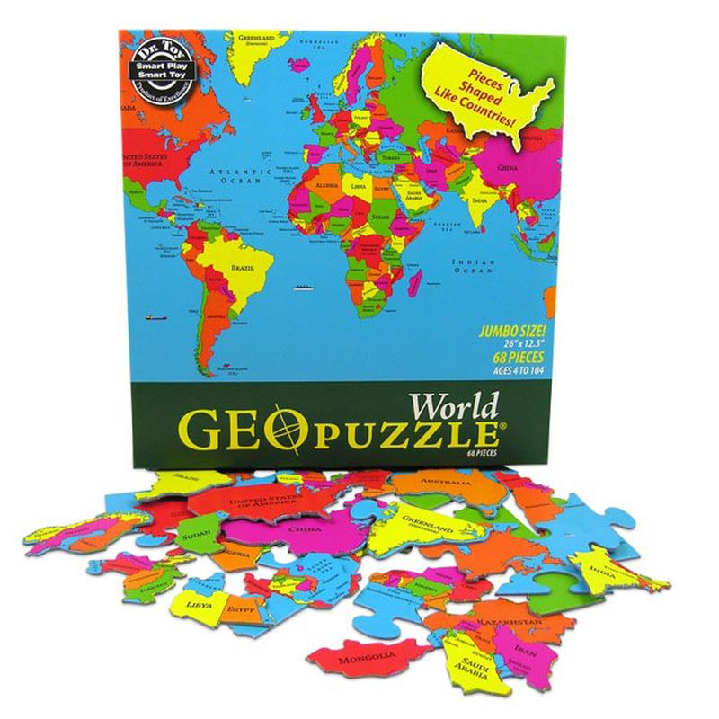 World - Scratch and Dent Maps / Geography Jigsaw Puzzle