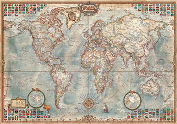 The world executive map jigsaw puzzle puzzlewarehouse the world executive map maps geography jigsaw puzzle gumiabroncs Images