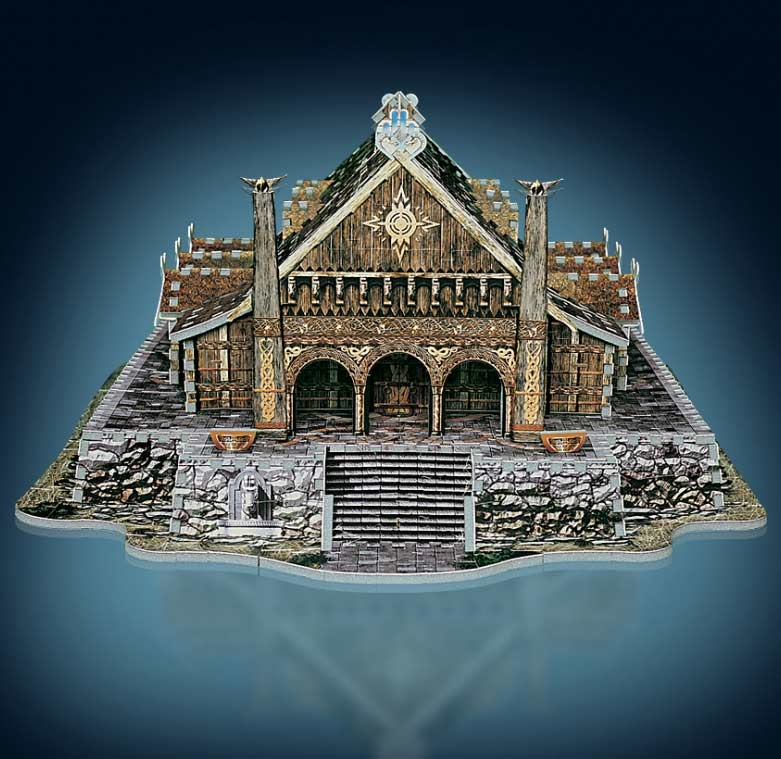 Golden Hall, Edoras Fantasy 3D Puzzle