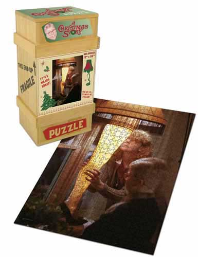 A Christmas Story Leg Lamp, Collector's Puzzle - 2 Christmas Collectible Packaging