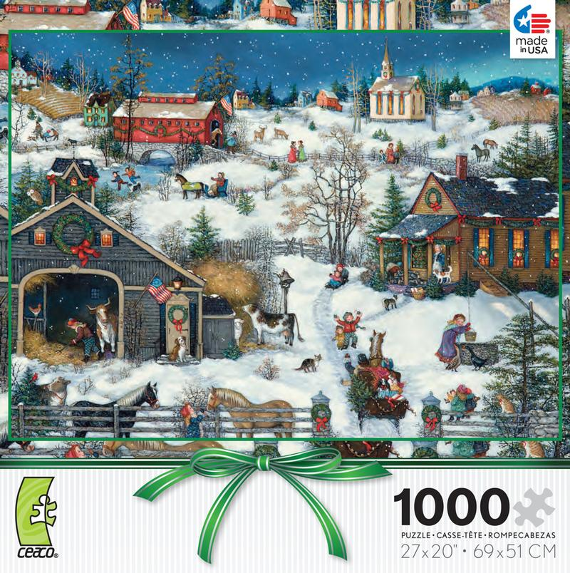 Yuletide Cheer - Linda Nelson Stocks Christmas Jigsaw Puzzle