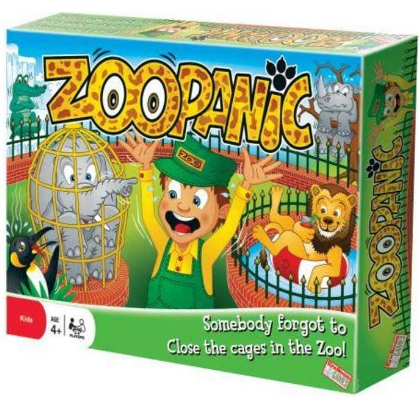 Zoo Panic Children's Games Card Game