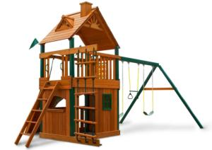 Chateau II Clubhouse Deluxe Swing Set with Timber Shield