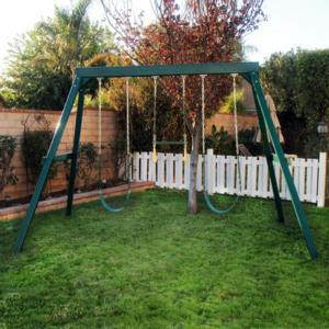 CONGO Swing Central 3 Position Swing Set - Green Low Maintenance Play Set