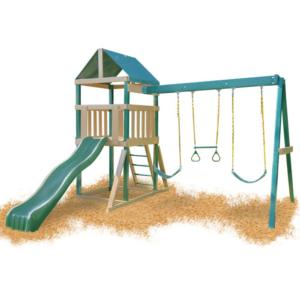 Congo Safari Playsystem - Green and Cedar Low Maintenance Play Set