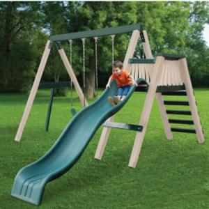 Congo Swing'N Monkey 2 Position - Green and Sand Low Maintenance Swing Set