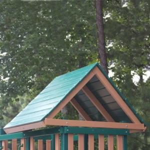 CONGO Wooden Roof (1) for Congo Monkey Playsets  (GREEN & BROWN)