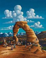 Delicate Arch Folk Art Jigsaw Puzzle