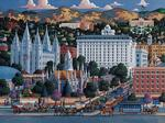 Salt Lake City Folk Art Jigsaw Puzzle