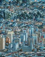 Salt Lake Winter - Scratch and Dent Folk Art Jigsaw Puzzle
