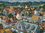 Solvang Folk Art Jigsaw Puzzle