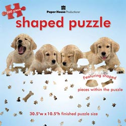 Golden Retriever Puppies Dogs Shaped Puzzle