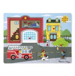 Around the Fire Station Vehicles Chunky / Peg Puzzle