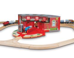 Roundhouse & Turntable Set Toy