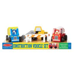Construction Vehicle Set Wooden