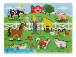 Old McDonald's Farm Farm Animals Chunky / Peg Puzzle