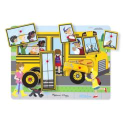 The Wheels On the Bus Vehicles Chunky / Peg Puzzle
