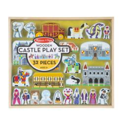 Wooden Castle Play Set Wooden