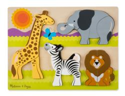 Chunky Jigsaw - Jumbo Safari Jungle Animals Children's Puzzles
