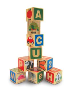 ABC 123 Wooden Blocks Wooden