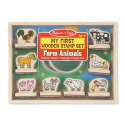 My First Wooden Stamp Set - Animals Stamps / Stamp Set