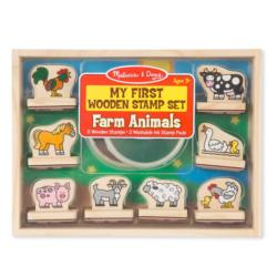 My First Wooden Stamp Set - Animals