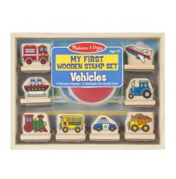My First Wooden Stamp Set - Vehicles Wooden