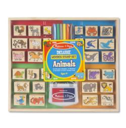 Deluxe Wooden Stamp Set - Animals Other Animals Stamps / Stamp Set