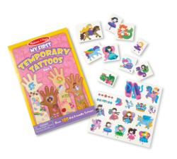 My First Temporary Tattoos - Pink Activity Books and Stickers