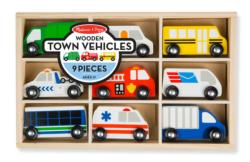 Wooden Town Vehicles Toy