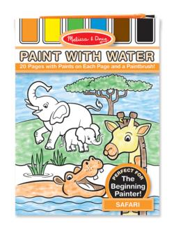 Paint with Water - Safari Jungle Animals Arts and Crafts