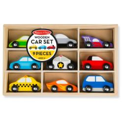 Wooden Car Set Vehicles Toy