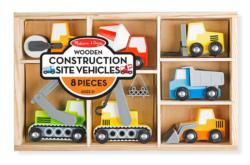 Wooden Construction Site Vehicles Toy