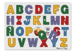 See-Inside Spanish Alphabet Wooden Jigsaw Puzzle