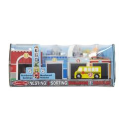 Nesting & Sorting Buildings & Vehicles Wooden