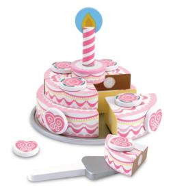 Triple-Layer Party Cake Pretend Play Toy