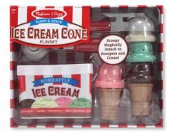 Scoop & Stack Ice Cream Cone Playset Wooden