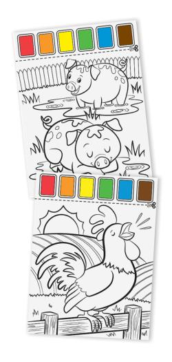 Paint with Water - Farm Animals Farm Animals Arts and Crafts