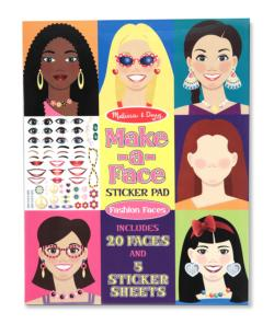 Make-a-Face Fashion Faces Sticker Pad