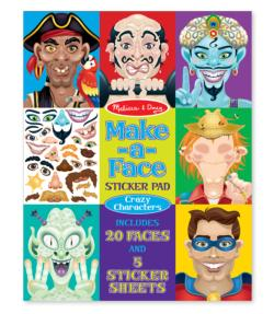 Make-a-Face Crazy Characters Sticker Pad Activity Books and Stickers