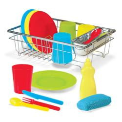 Let?s Play House! Wash & Dry Dish Set Pretend Play Toy