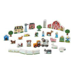 Wooden Farm & Tractor Play Set Wooden