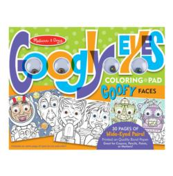 Wacky Animals Google Eyes Coloring Pad