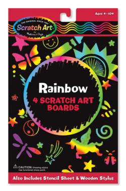 Rainbow Scratch Art Boards Arts and Crafts