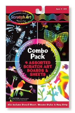 Scratch Art Combo Pack Arts and Crafts