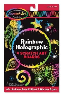 Rainbow Holographic Scratch Art Boards