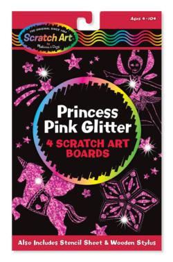 Princess Pink Glitter Scratch Art Boards Arts and Crafts