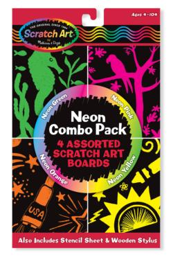 Neon Scratch Art Combo Pack Arts and Crafts